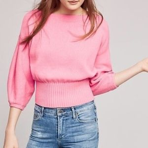 Knitted and Knotted Sweater Pink Cropped XS